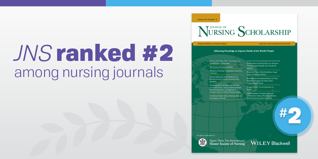 JNS ranked #2 in Nursing!